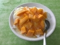 ピンサンのマンゴーかき氷