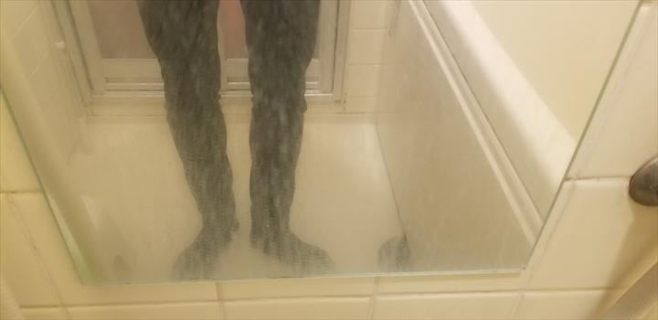 自宅の鏡ウロコ