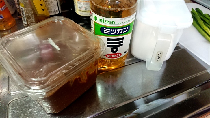 行者にんにく 酢味噌和え 酢味噌作り