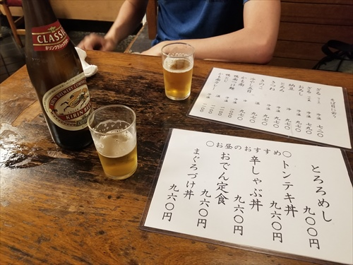 津田園本店 店内 ビール
