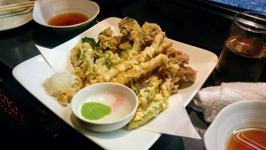 櫻バー 春野菜の天ぷら