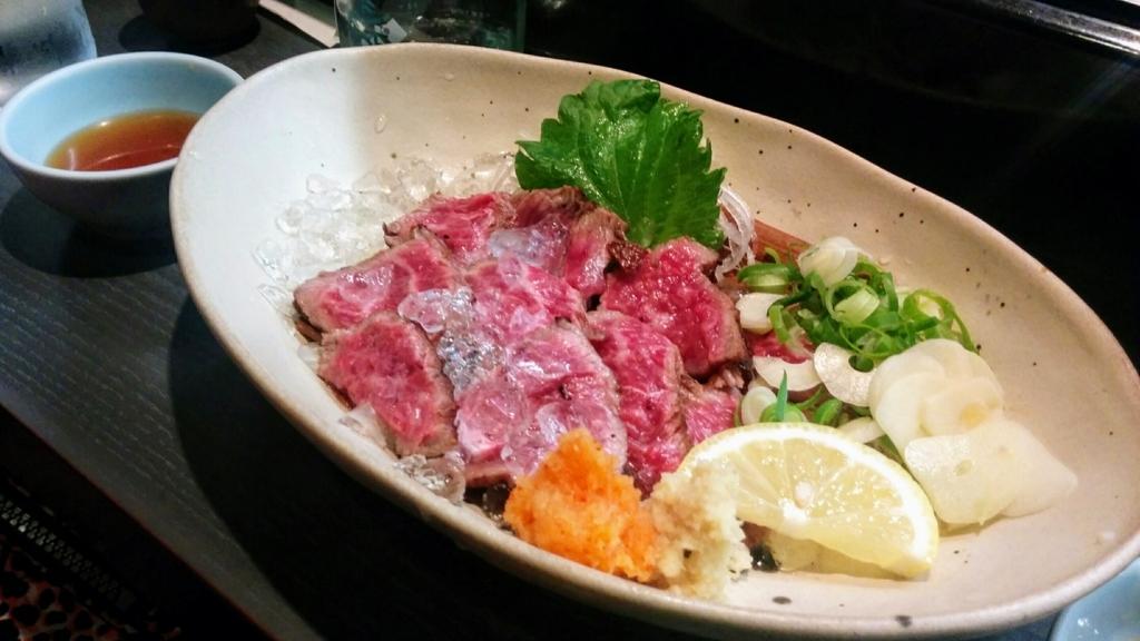 櫻バー 牛肉たたき