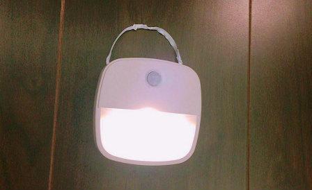 LED人感センサーライト,紐完成