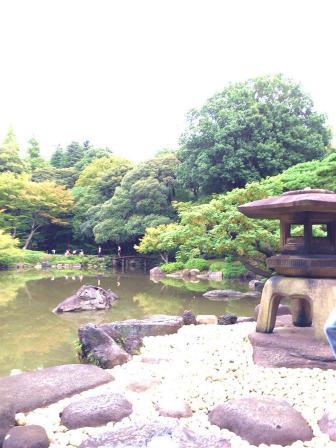 旧古河庭園,日本庭園