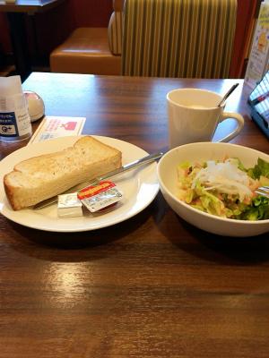 ジョナサン,グリーンサラダ&トーストモーニング