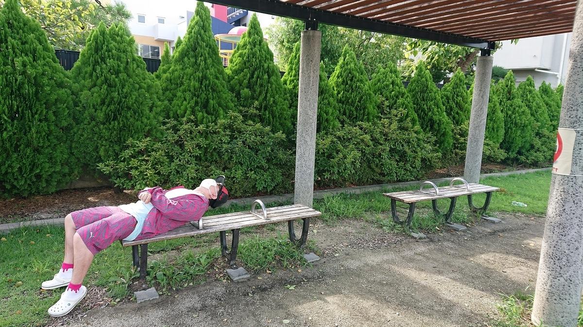 佐野1丁目ゆめ公園のベンチ