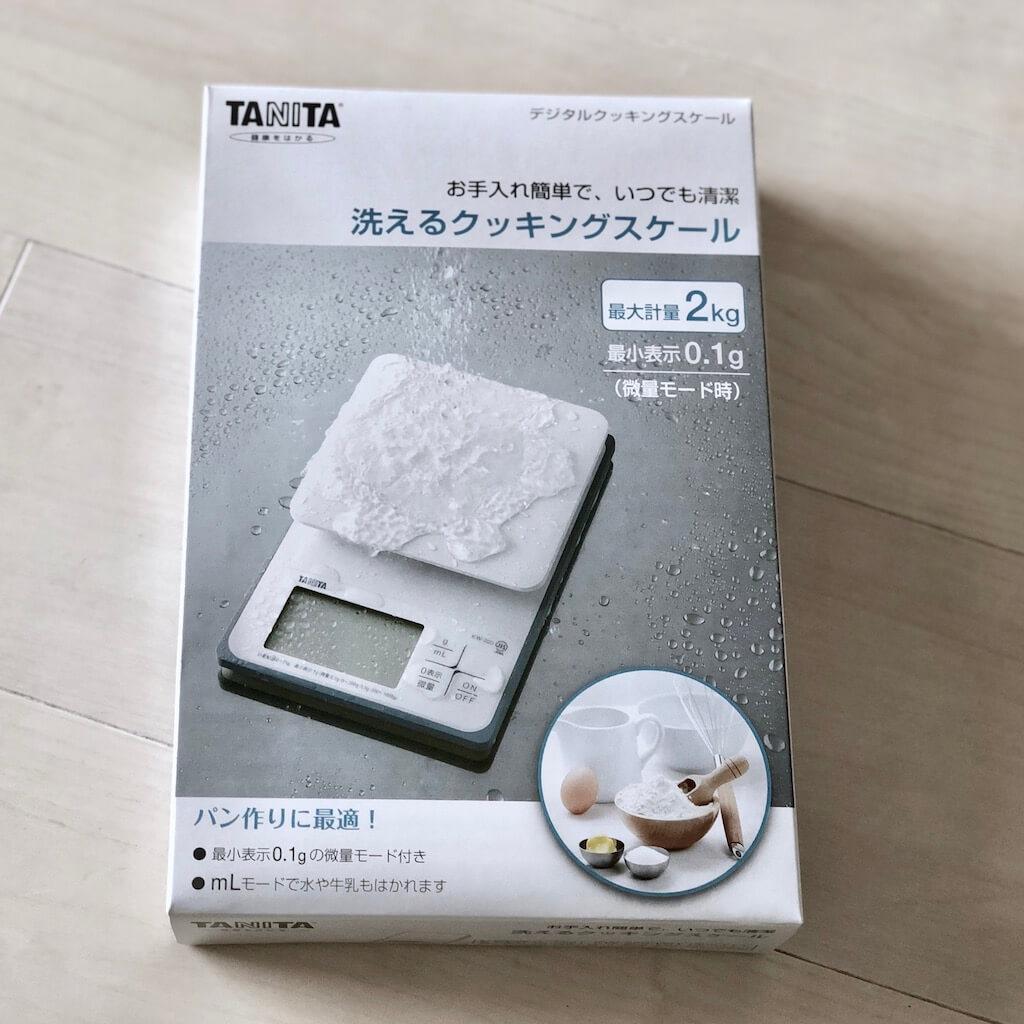 タニタ 洗えるクッキングスケール ホワイト KW-220-WH