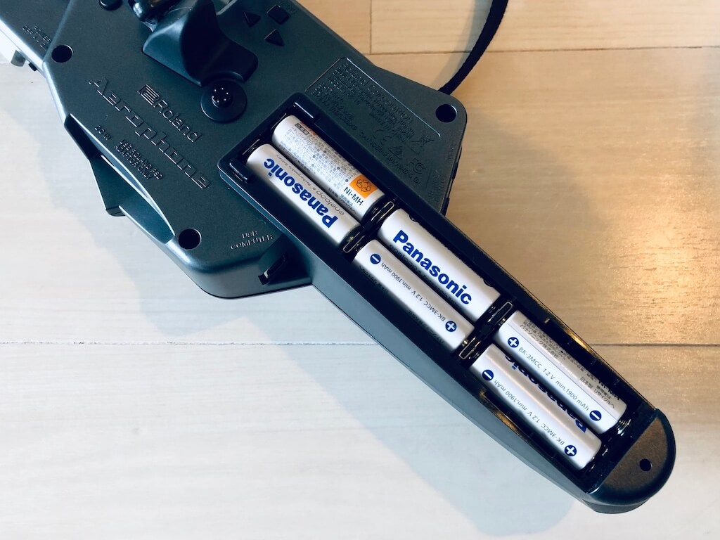 エアロフォン 電池