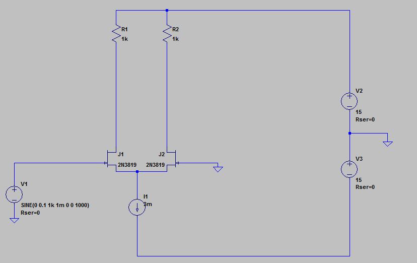 差動アンプの回路