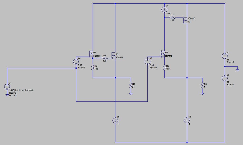 スーパーソースフォロアのシミュレーション回路