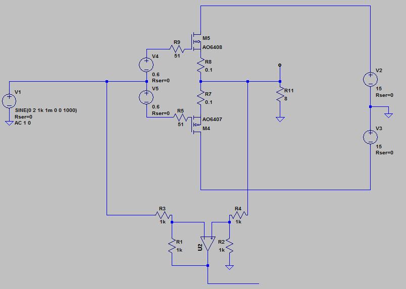 フィードフォワードのシミュレーション回路