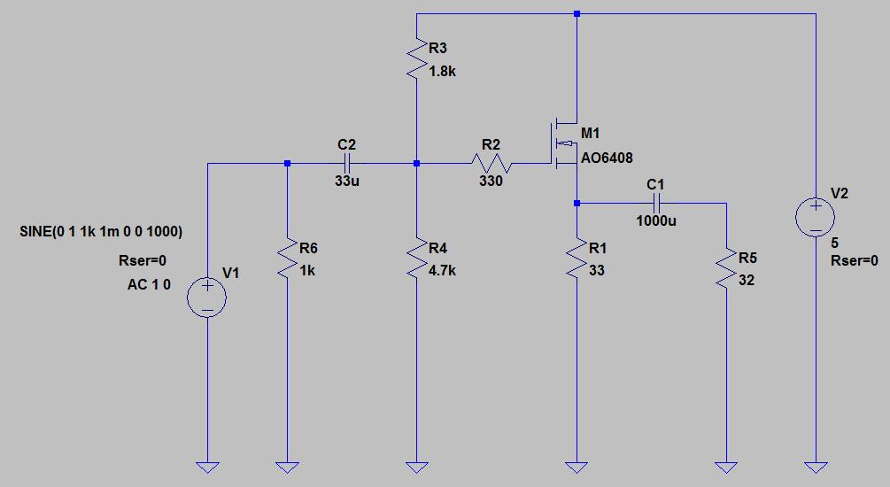 一石ヘッドホンアンプの回路