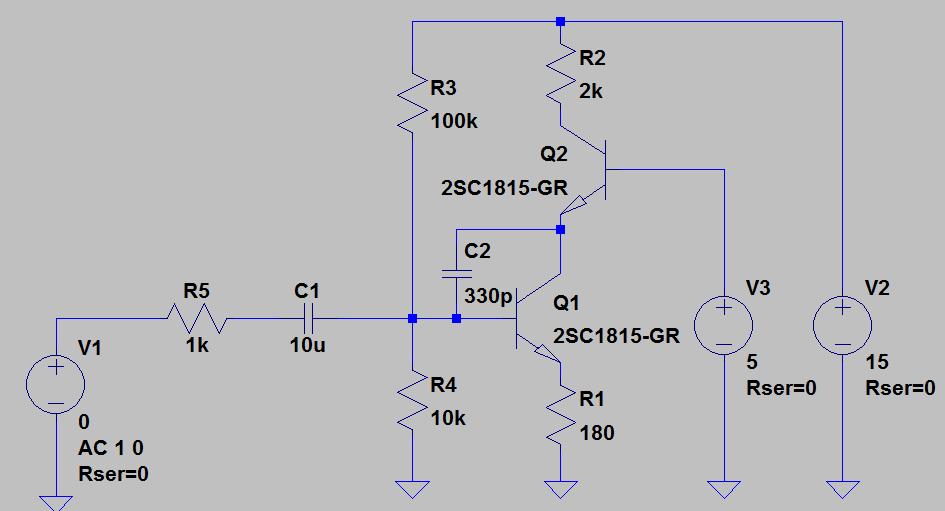 カスコード化した回路