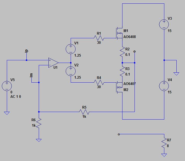 シミュレーション対象とする回路