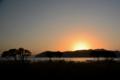 京都新聞写真コンテスト「湖北の夕日」