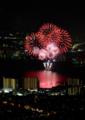 京都新聞写真コンテスト「赤く染まる湖」