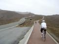 火口に向けての有料道路(自転車無料)