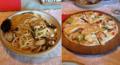 シーフードペペロンチーノ&ミックスピザ