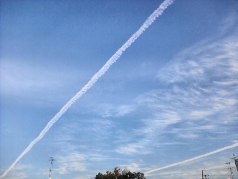 飛行機雲2012.1.14