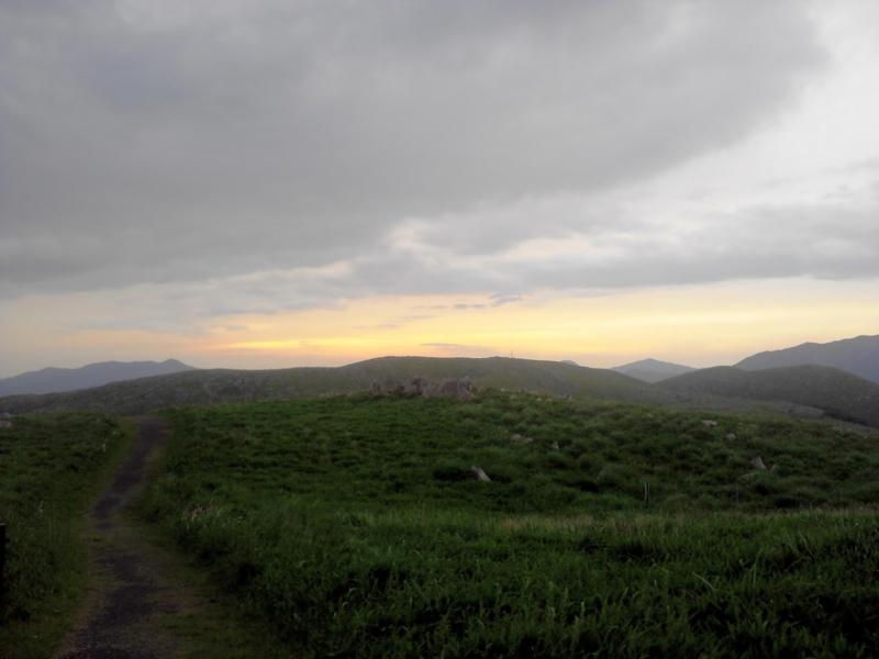 秋吉台の夕空2012.6.4
