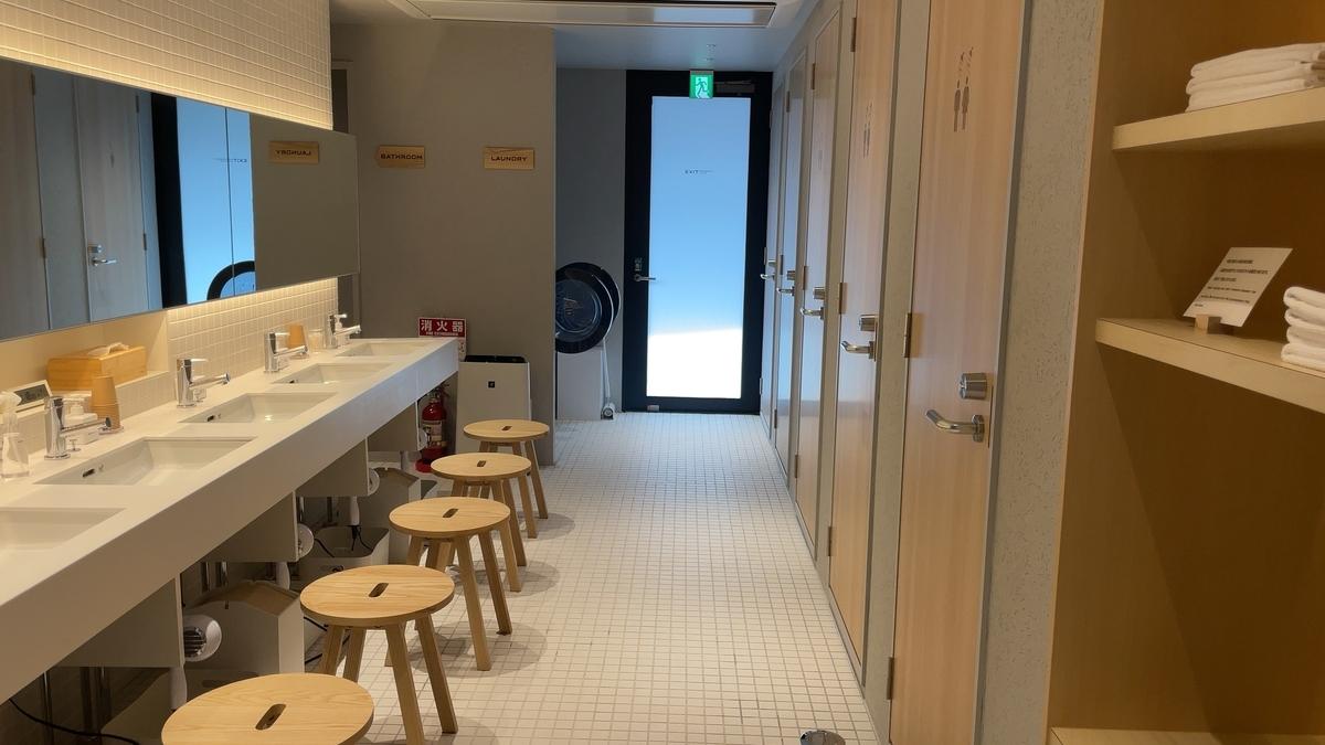 シャワールームの洗面台