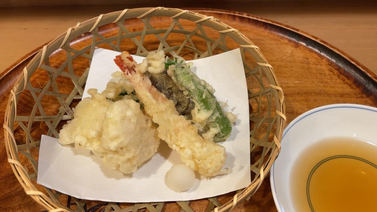 鱧と海老の天ぷら