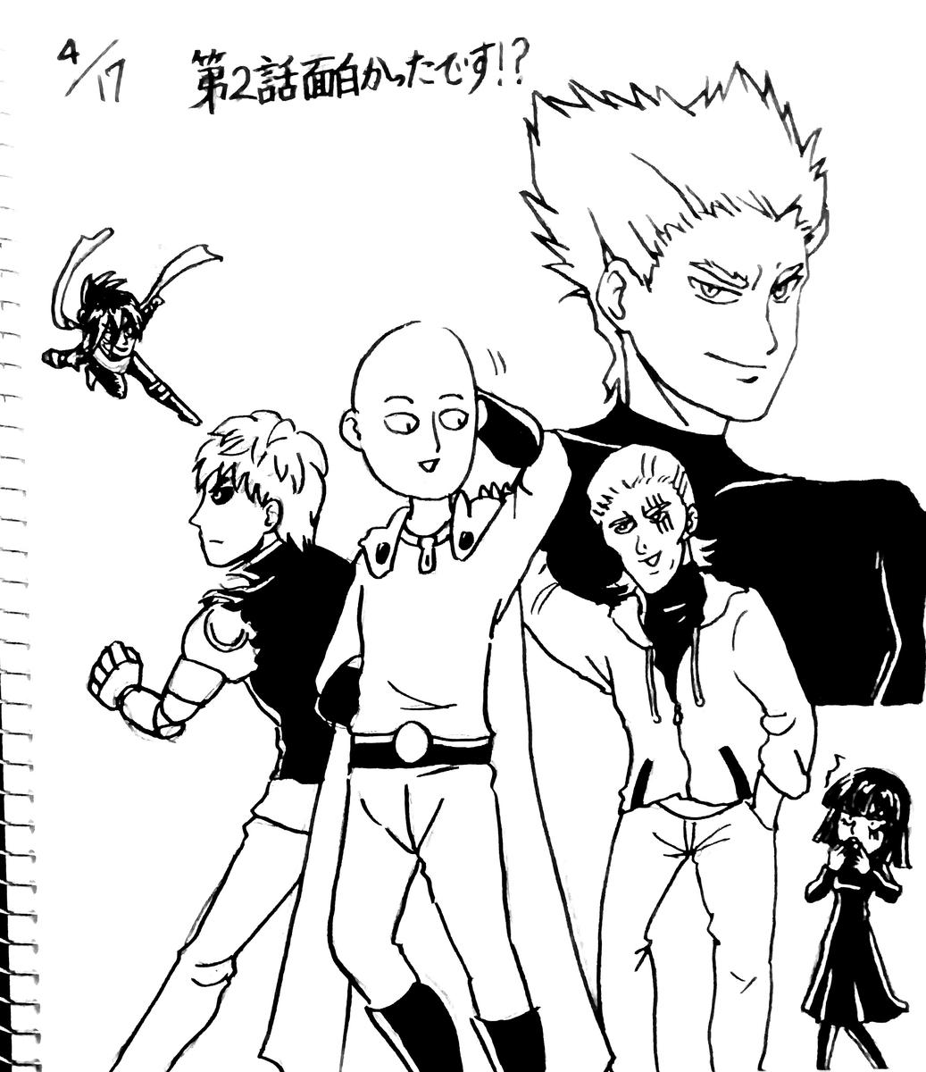 ワンパンマンのキャラクターたち。