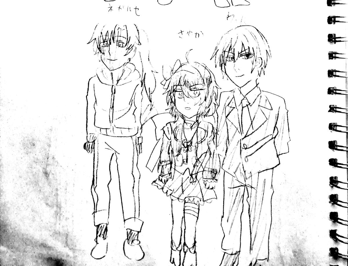 枯井戸さんのキャラクター案1