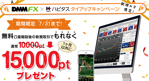 DMM証券の期間限定15000円キャンペーン