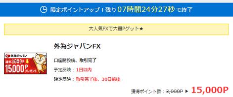 モッピー外為ジャパンFX