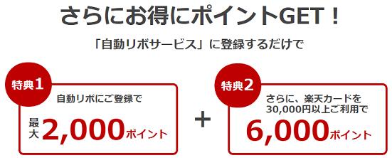 自動リボ払いで8000円