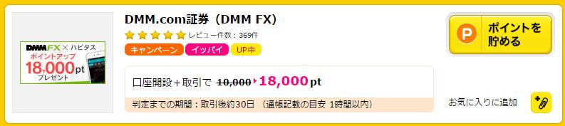 DMM証券ハピタス高額マイル