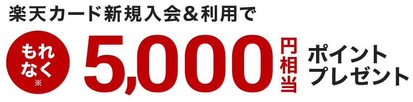 楽天カード5000円