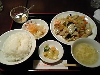 八宝菜定食