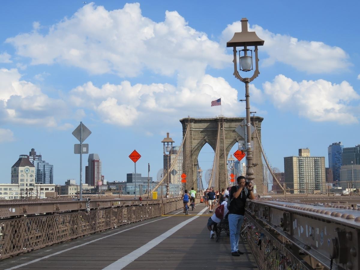 ブルックリン橋の真ん中辺り