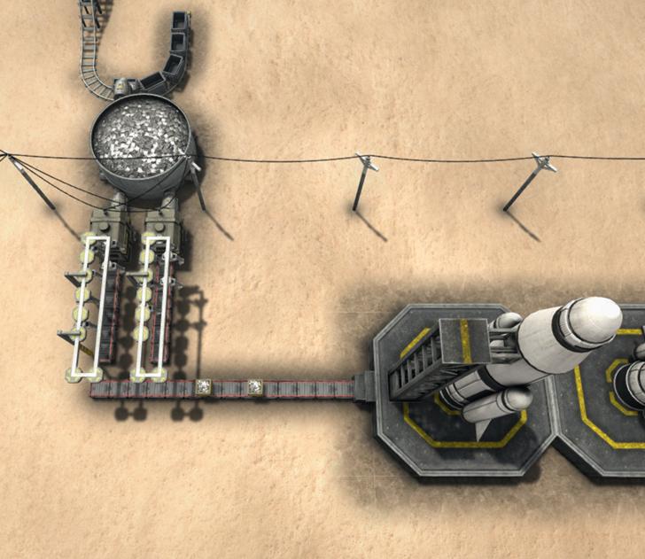 ロケットの設置例