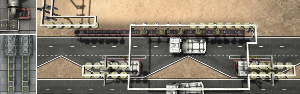 アンロードステーションの設置例