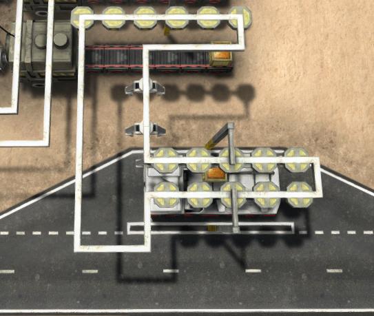 クレーン列車トラックローダーの設置例