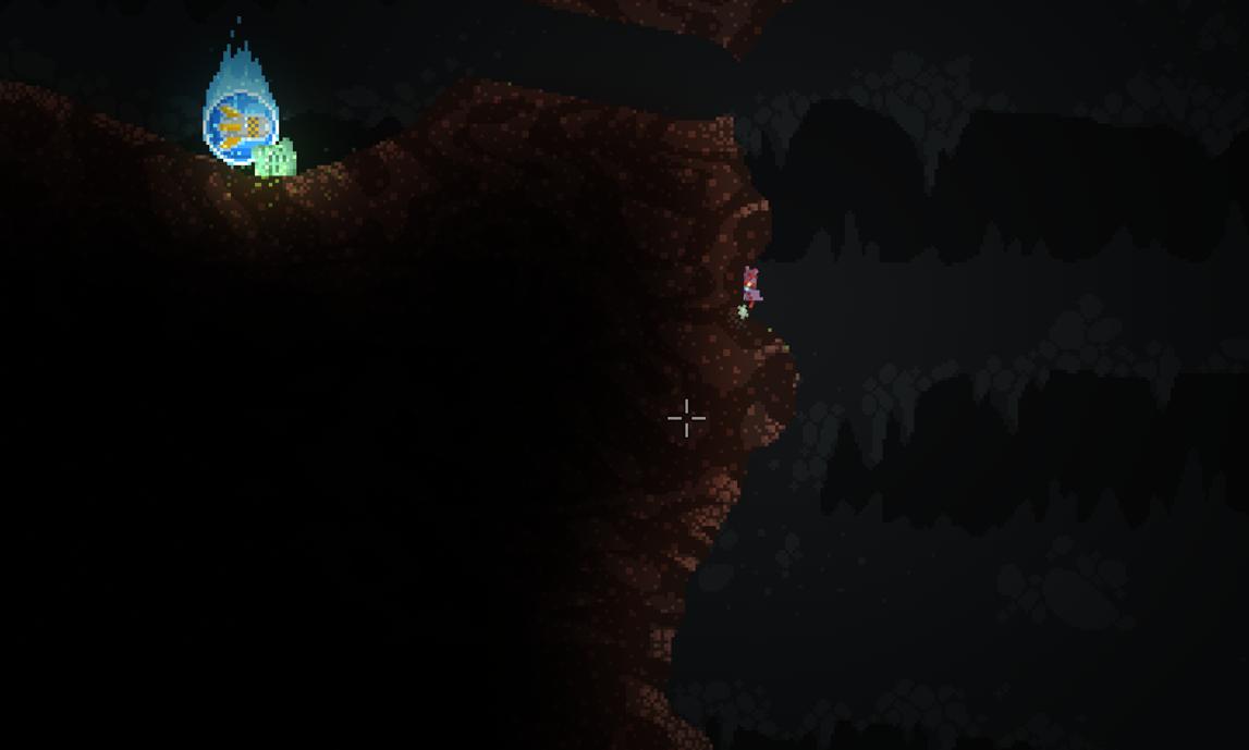 溶岩湖のオーブの位置