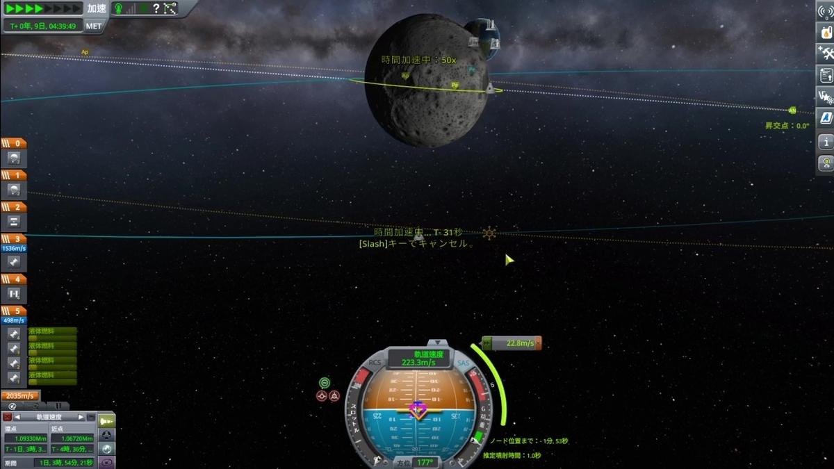 軌道面の調整