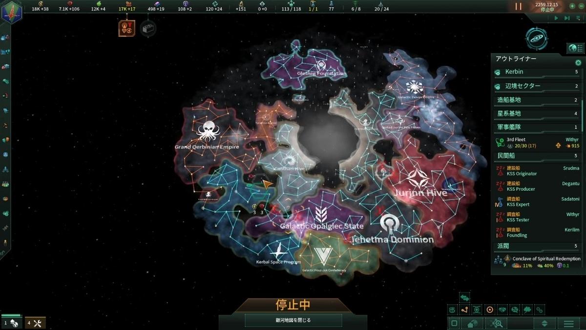 2250年代後半の銀河地図