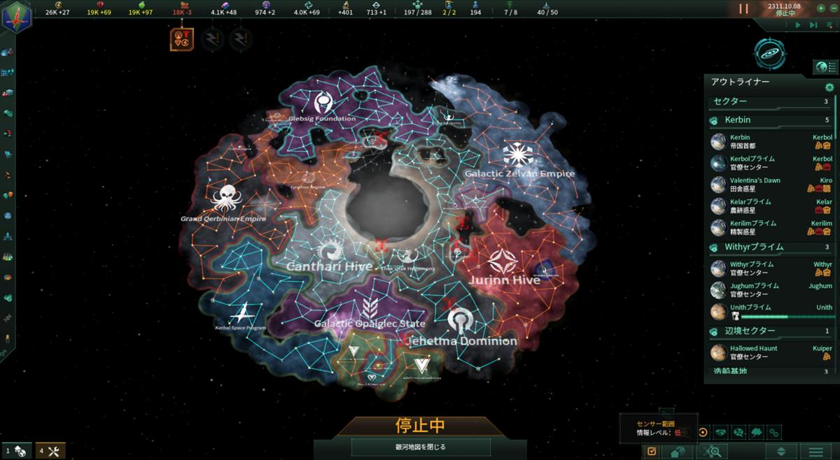2310年代の勢力状況