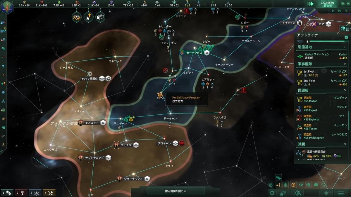 目標星系の確保達成