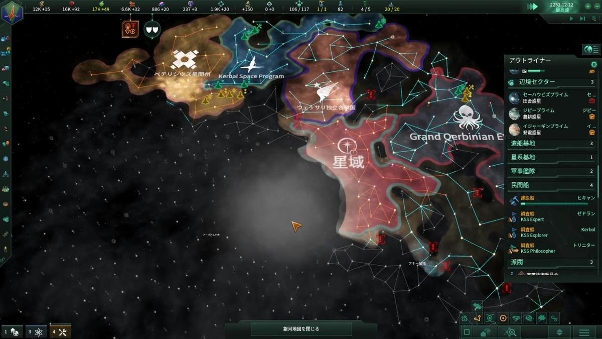 星域との位置関係