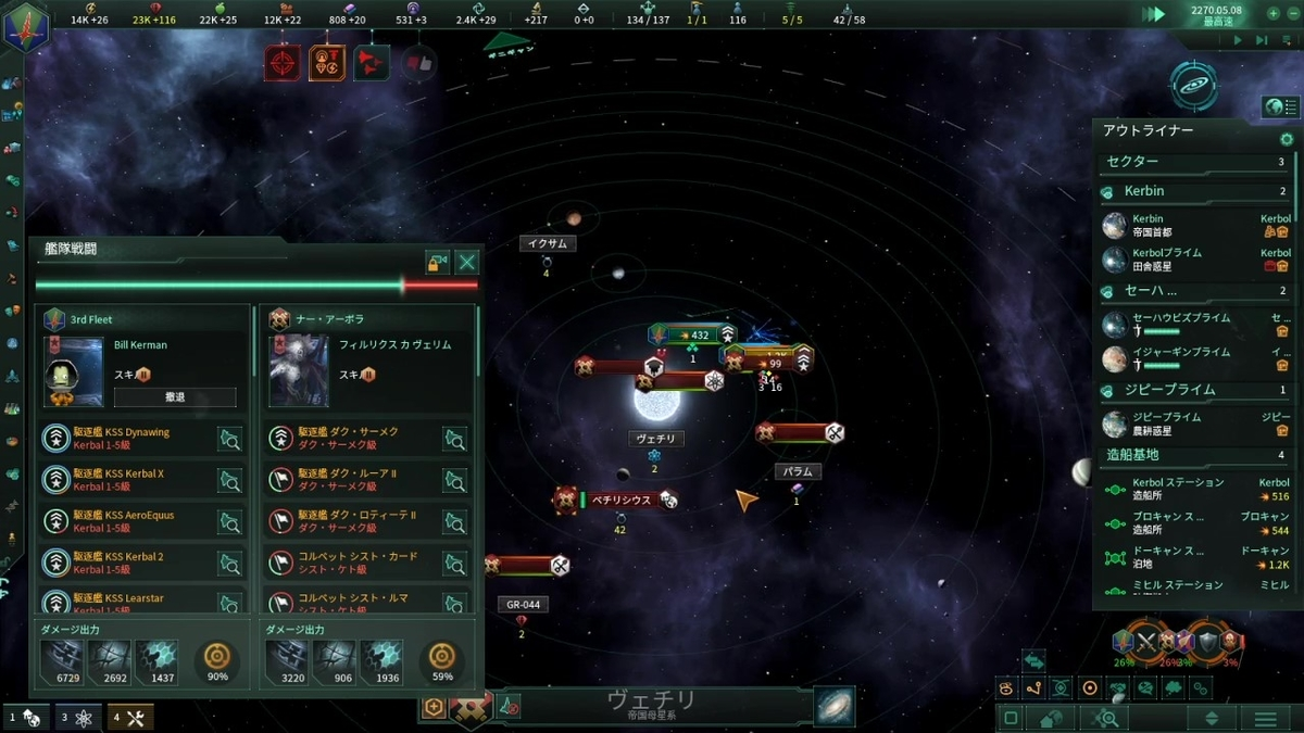 敵艦隊撃破寸前の図