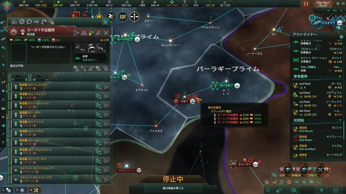スクィルダリ艦隊出現