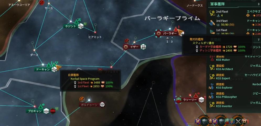 KSP艦隊とスクィルダリ艦隊の戦力