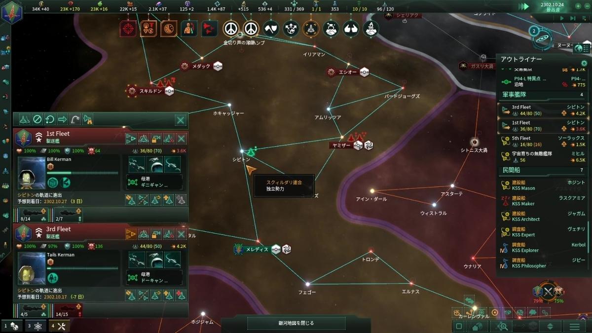 スクィルダリ領へ侵攻
