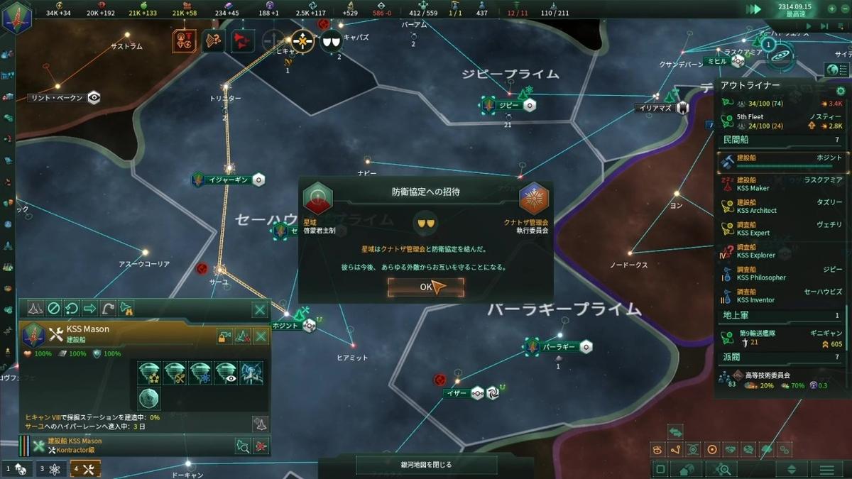 星域とクナトザの防衛協定