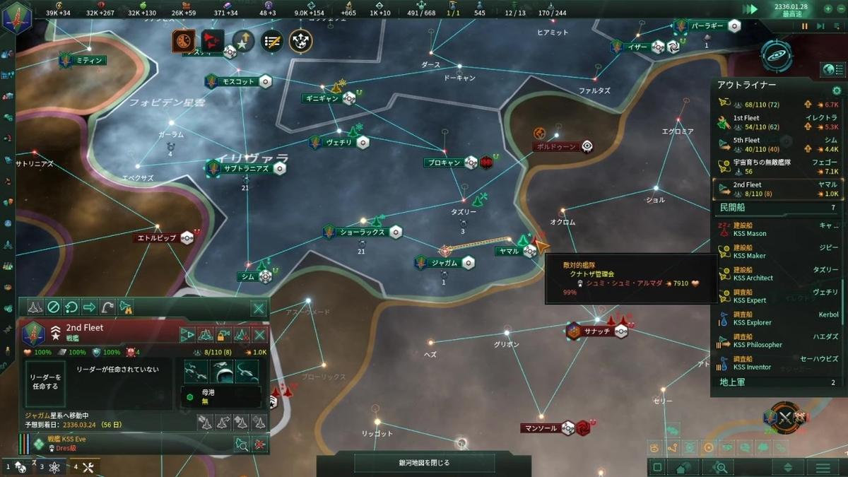 クナトザの主力艦隊